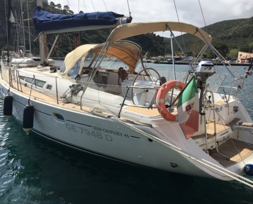 barche a noleggio senza skipper sun odyssey 45