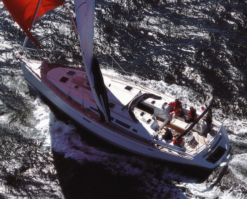 barche a noleggio senza skipper sun odyssey 45 navigazione dall'alto